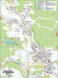 Stadtplan Mariazell und St. Sebastian