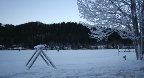 Eislaufen am Erlaufsee