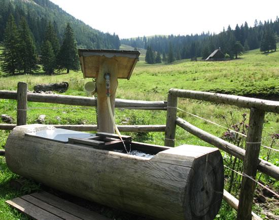 Brunnen Falbersbach - ÖAV Hütte