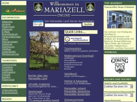 Mariazell Online Snapshot aus dem Jahr 2005