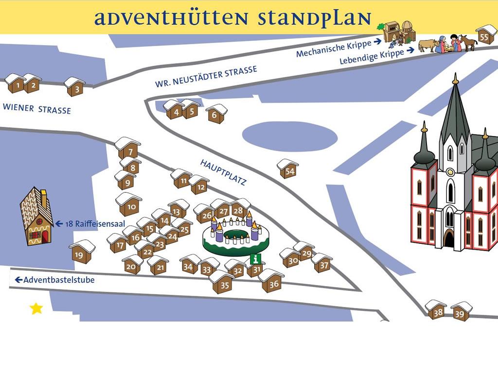 Standplan Adventhütten