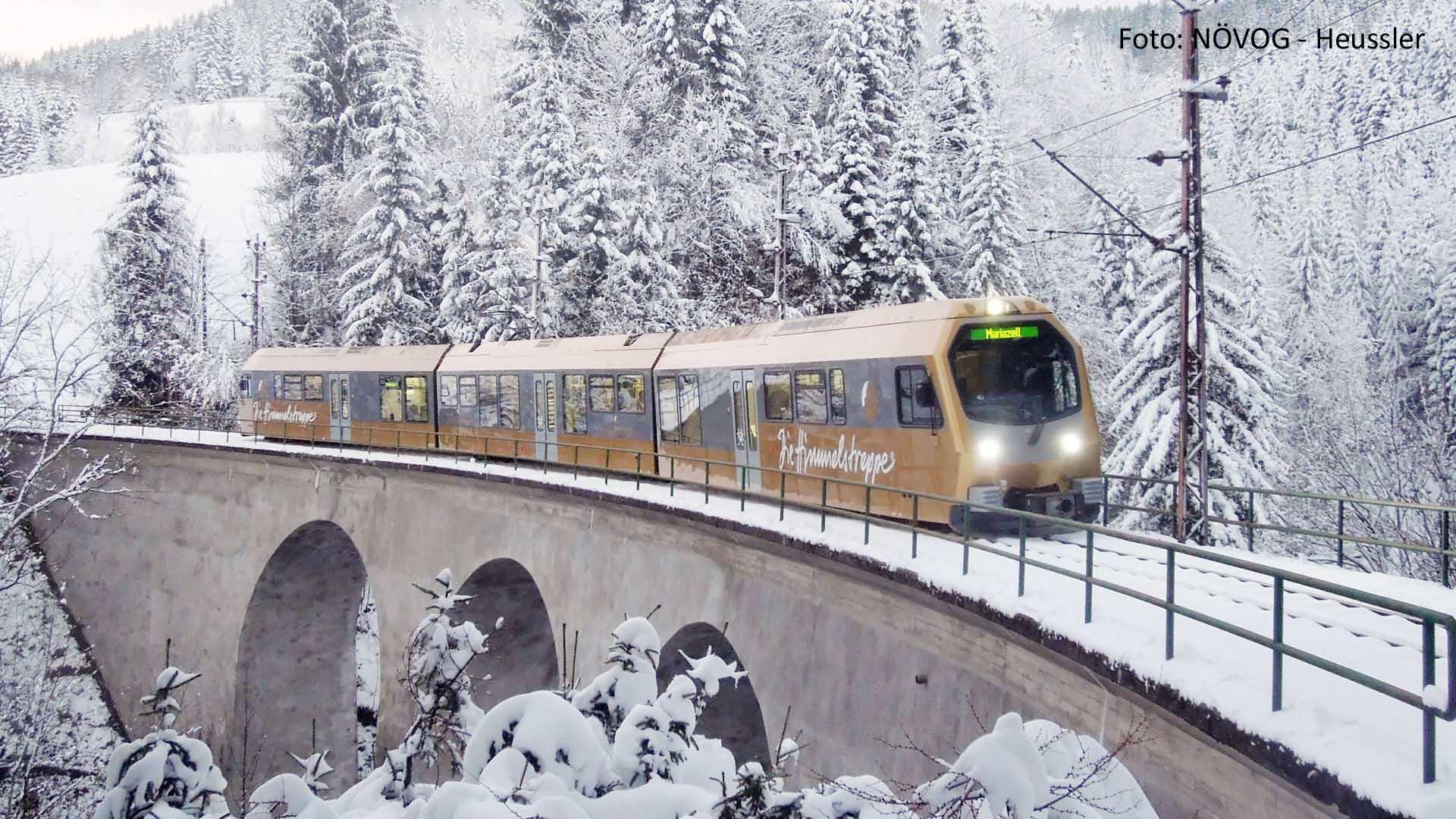 Himmelstreppe im Winter - Foto: NÖVOG-Heussler