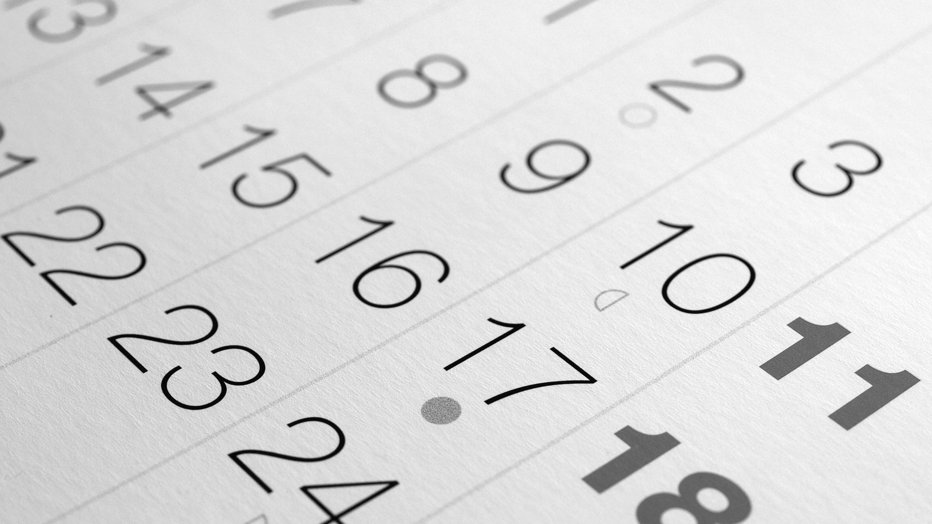 Kalender, Foto: INGImage