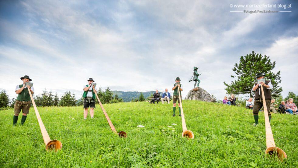 Alphornbläserquartett Mariazell - Foto: Fred Lindmoser